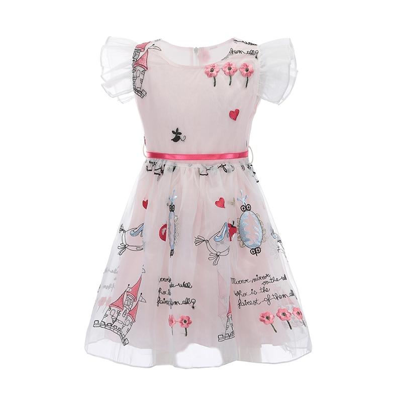 e6cb30d6554 ᗑBongawan Fleur Robe pour Fille Princesse Robe Enfants Ruches Parti ...