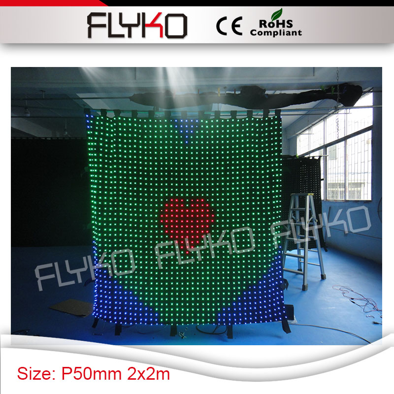 Pc Controller Led Soft Curtain Display Led Cortinas Led Video Curtain In Short Supply Stage Lighting Effect Free Shipping Commercial Lighting
