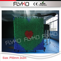 Pixel50mm rental restaurant stage professional indoor LED Display led video wall with RGB color
