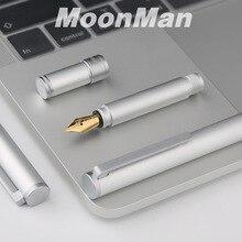Yeni Moonman N1 Yaratıcı Mini Alüminyum Alaşımlı Çelik Gümüş dolma kalem Cep Kısa Kalem Ekstra İnce/Ince 0.38/0.5mm Moda Hediye