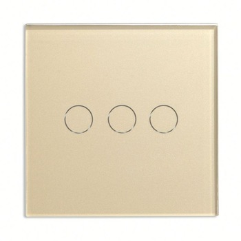 Bseed 240v Touch Light Switch 3 Gang 2 Way Touch Sensor Switch With Glass Panel Gold Touch Switch Eu Uk Us Au 2017 free shipping smart wall switch crystal glass panel switch us 2 gang remote control touch switch wall light switch for led