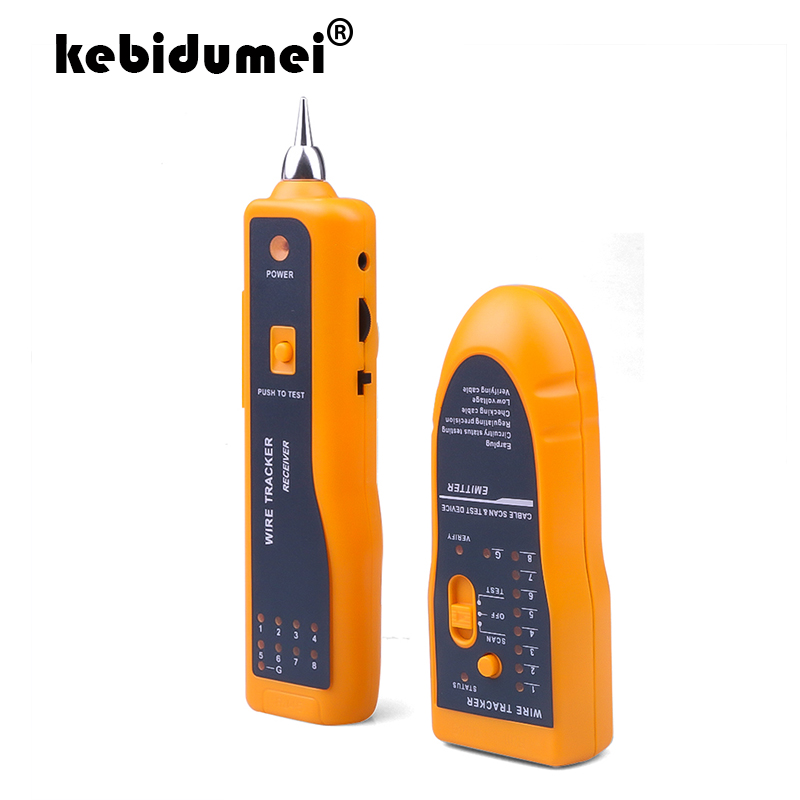 Многофункциональный кабельный тестер kebidumei, проводной трекер, детектор, линейный детектор, проводной трекер, трассировщик сети RJ11 RJ45