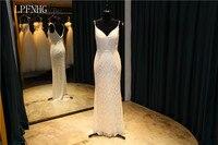 Sexy Mermaid Wedding Dresses 2018 V Neck Sleeveless Backless Floor Length Beading Bridal Dresses 2017 Vestido