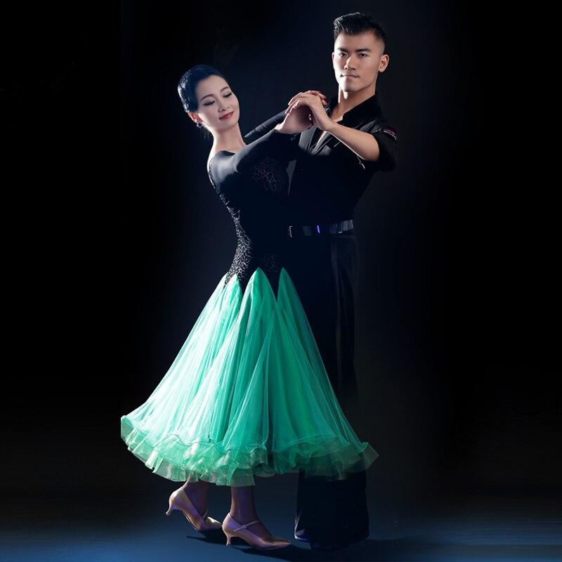 2017 New Led Costume Sale Ballroom Dance Skirts Newest Design Woman Modern Waltz Tango Dress/standard Competition Dress Yl300