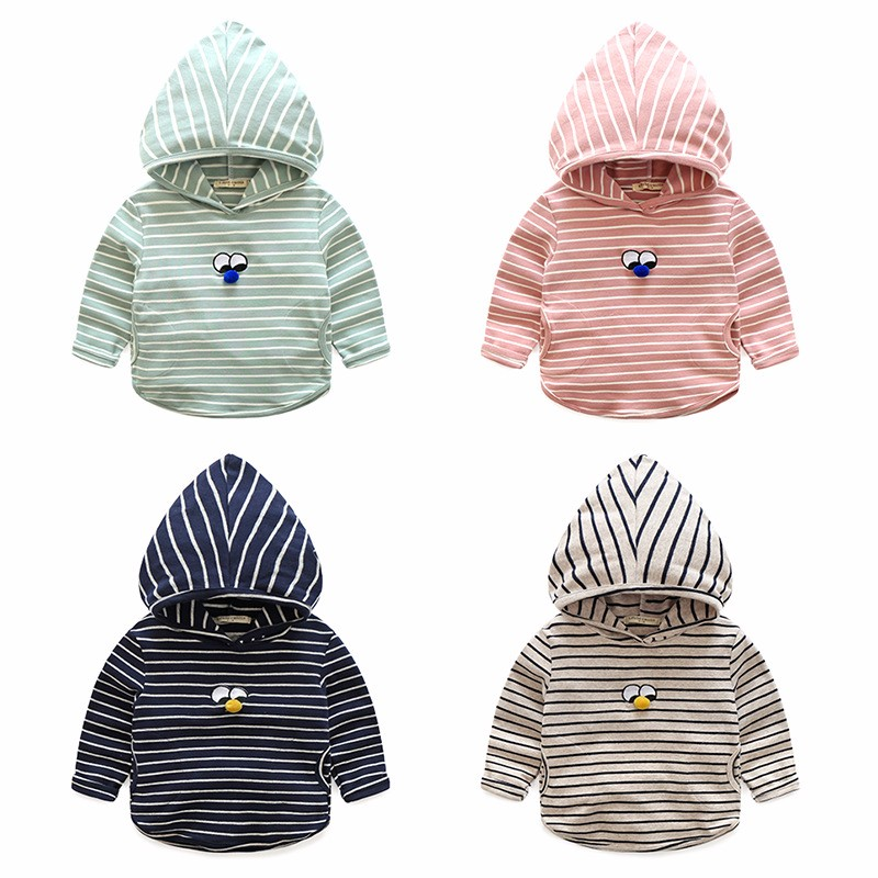 Hoody For Boy Striped Cotton Kids Clothes Spring Autumn Boys Hoodies With Eyes Long Sleeve Toddler Tee 2-6 Y Children Clothing (2)