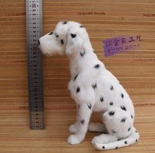 new simulation sitting spot dog toy resin and fur Dalmatians dog doll gift about 25x13x20cm 775