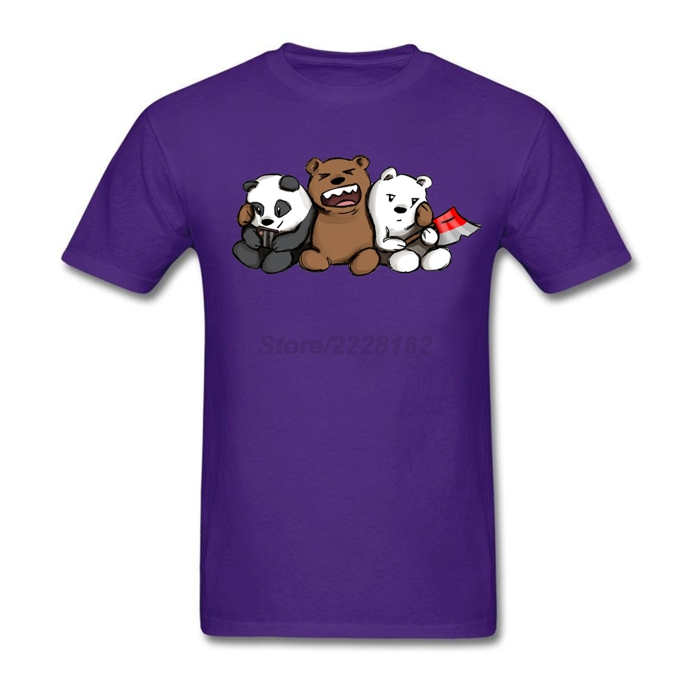 Fit Causual tshirt Store man We Bare Bear Shirts with Bear Den Gaming man Original t shirt Trendy Hot