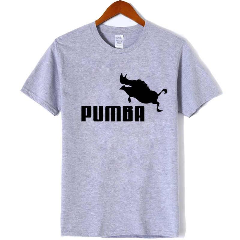 Delle donne di Nuovo di marca t-shirt Pumba delle donne di stampa manica corta t shirt 100% cotone di estate della ragazza casuale t shirt più di modo