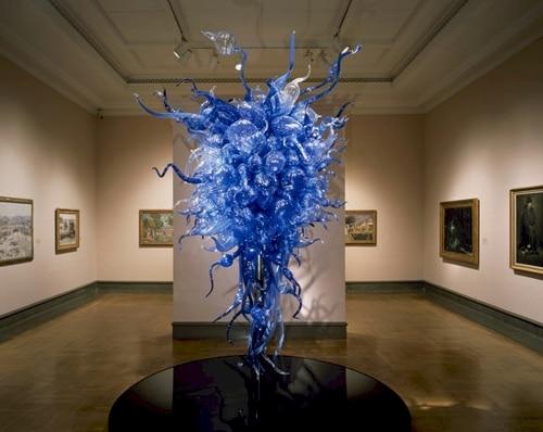 Custom Made Blue Hand Blown Murano Glass Chandelier Modern Art Glass LED Home Decor ChandelierCustom Made Blue Hand Blown Murano Glass Chandelier Modern Art Glass LED Home Decor Chandelier