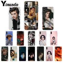 Yinuoda Timothee Chalamet Colorful Cute Phone Accessories Case for Apple iPhone 7 6 6S Plus X XS MAX 5 5S SE XR 8 Cover