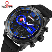 2018 KADEMAN Luxury Full Steel Men Waterproof Sport Watch Men's Quartz Digital Clock Leather Man Wrist Watch Relogio Masculino