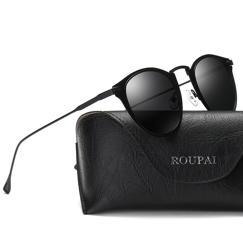 Polarized Light Sunglasses Men Round Vintage 2018 Metal Frame Gold Black Oval Sun Glasses For Women Red Male Gift