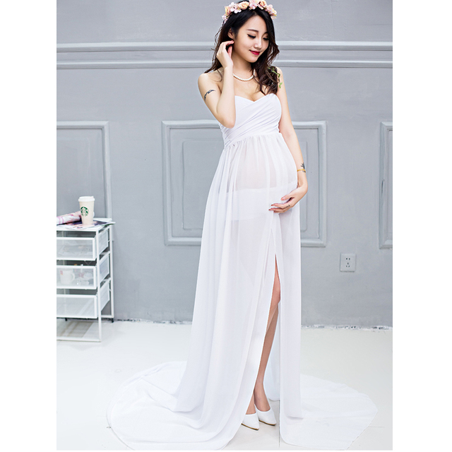 Chiffon Maternity Dresses Photography Props Party Homecoming Ladies Wedding  Dresses Long For Photo Shoot Sexy Pregnancy