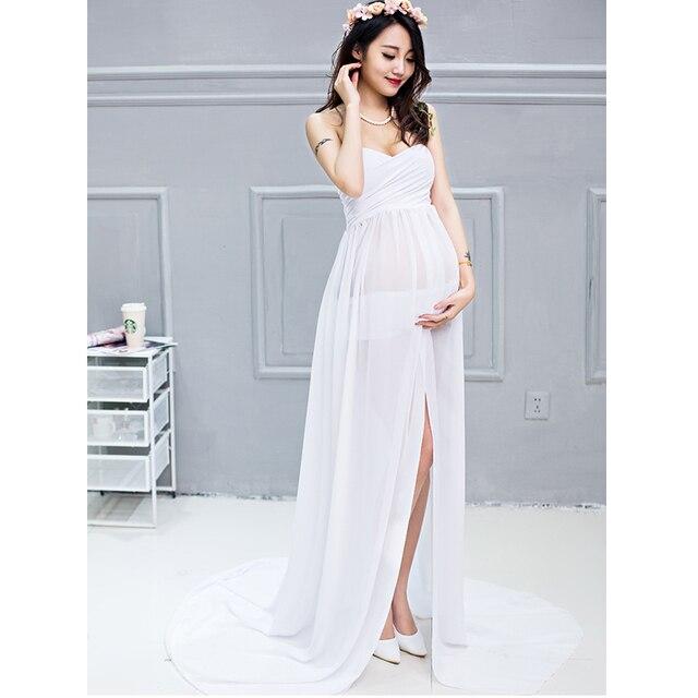 77ed0a554 Gasa maternidad vestidos fotografía props partido damas vestidos de novia  largo para sesión de fotos sexy