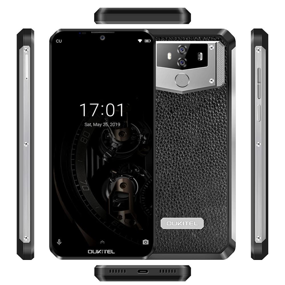 "טלוויזיות 25-29 OUKITEL K12 6G RAM 64G ROM אנדרואיד 9.0 טלפון נייד 6.3"" 19.5: 9 MTK6765 10000mAh 5V / 6A Quick Charge טביעות אצבע Smartphone (3)"