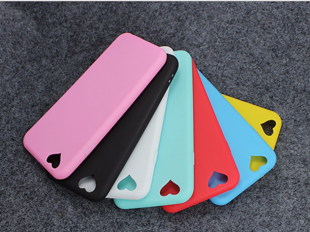 Fashion Candy Color Loving Heart Camera Hole Phone Cases