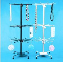 Jewelry display rack revolving jewelry necklace hang earrings small accessories