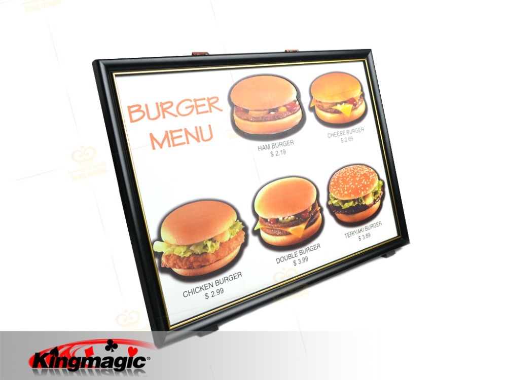 4D Burger Board/Magic Tricks/Stage Magic/Magic Props/Magic Product horizontal card rise magic tricks stage card accessory gimmick props mentalism classic toys