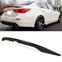 Black Rear Carbon Fiber Trunk Spoiler Wing Rear Spoiler Wing OE Style For INFINITI Q50 Q50S 2014 2018|Spoilers & Wings| |  -