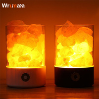 Wrumava New Arrival Lava Lamp Volcanic Himalayan Crystal Salts Natural Air Purifier LED Night Light USB Touch Dimmer Switch