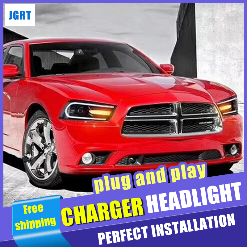 Car Styling For Dodge Charger Led Headlight 2011 2014