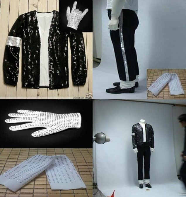 New Michael Jackson Billie Jean Suits Sequin Kids - Կարնավալային հագուստները