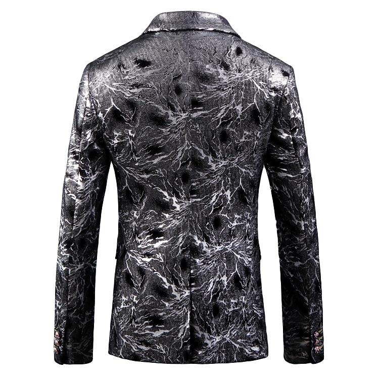 Hommes luxe noir bronzant velours Blazer veste hommes discothèque costume de bal Blazer hommes mariage marié fête scène Costumes pour chanteur-in Blazers from Vêtements homme    3