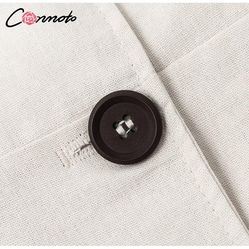 Conmoto Elegant Short Blazer Women Dress Sexy Bow Belt Tie Solid Mini Dress Linen Button Beach Wrap Party Dresses Shirt Vestidos 11