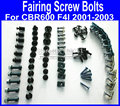 Fairing common screws bolts kit for Honda CBR600 F4I 2001 2002 2003 CBR 600 F4I 01 02 03 aftermarket black fairings bolts screw