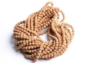 "Image 2 - משלוח חינם 10 גדילים אמיתי טבעי Rudraksha בודהי זרעי חרוזים 6 מ""מ 7mm 8mm 9 מ""מ 10mm 11mm 12mm"