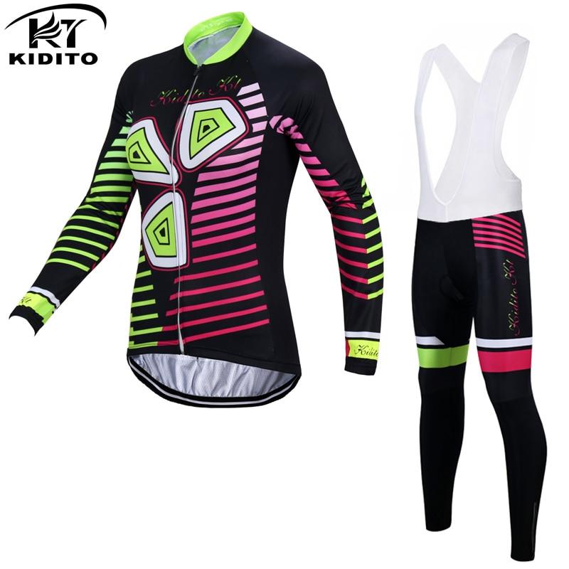 ФОТО KIDITOKT Pro Brand Queenie Winter Thermal Fleece Women Cycling Jerseys/Comfortable MTB Bicycle Sportswear Cycling Clothing