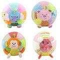 Som do bebê Bola de Pano Animal do Brinquedo Para As Crianças Atividade Bebê brinquedos Jouet Educativo Cedo do Macaco Macio Dos Desenhos Animados Porco Cor de Rosa Bola WJ370