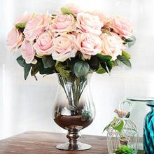 Artificial silk 10 Heads French Rose Floral Bouquet Fake Flower Arrange Table Daisy Wedding Flowers Decor Party Accessory Flores