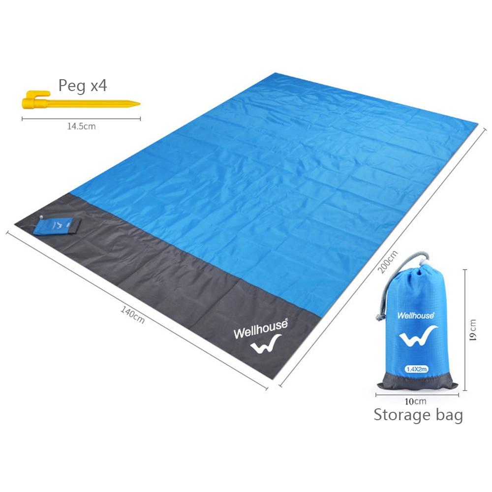 Portable Picnic Anti-Sand Beach Mat Waterproof Blanket by LemonFrogs™