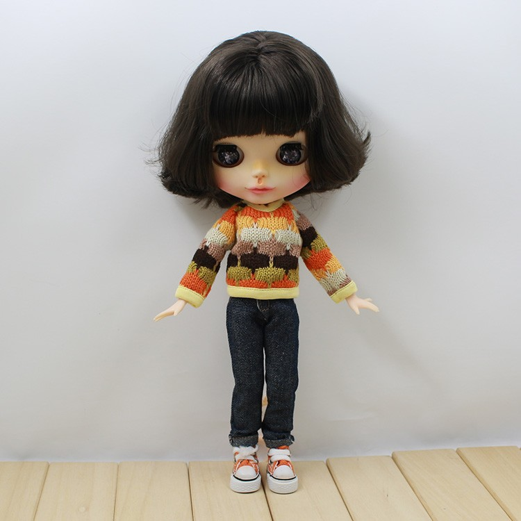 Neo Blythe Doll Colorful Sweater 1