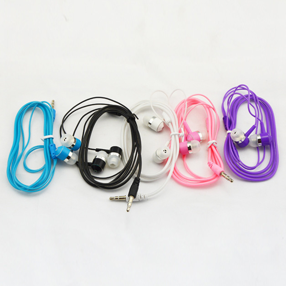 qijiagu New universal MP3 headsets android phone earphone crystal candy earplug wholesale random color
