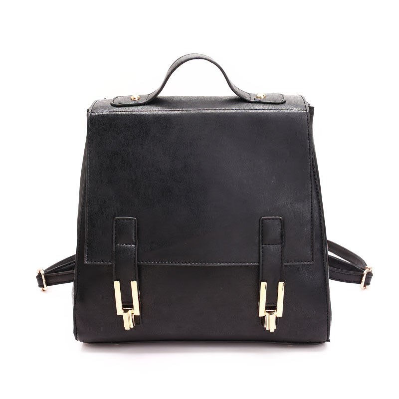 Fashion Women Backpack High Quality PU Leather Mochila School Bags for Teenagers Girls Top handle Backpacks