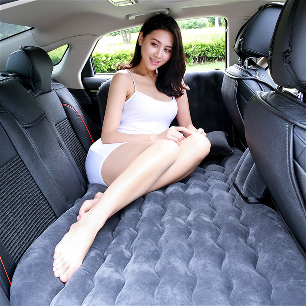 Franchise Car Travel Bed Camping Inflatable Sofa Automotive Air Mattress Rear Seat Cushion Rest Sleeping pad with Pillow/Pump image