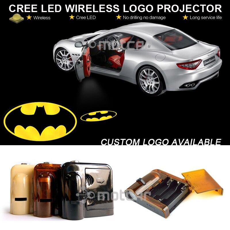 Wireless Joker Batman Logo Car Door Projector Laser  Courtesy Ghost Shadow Light