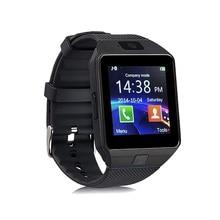 2018 Relogio DZ09 Smartwatch Relógio Inteligente Homens com Câmera Bluetooth 3.0 SIM Card Apoio TF Cartão para o Telefone Android Samsung HUAWEI