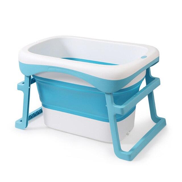 2019 offre spéciale bébé bain enfants seau pliant bébé nouveau-né bain pliant bébé douche pliable antidérapant baignoire sécurité