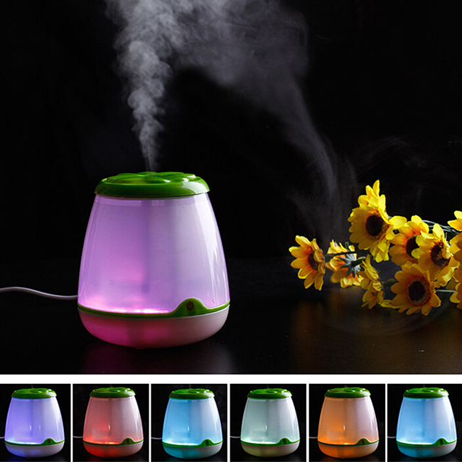 Colorful Ultrasonic Aromatherapy Machine Humidifier Aromatherapy Small Nightlight Quieten Essential Oil Incense Burner