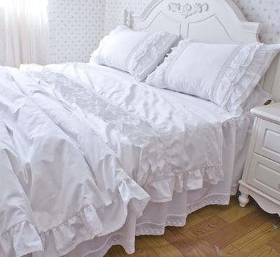 Yy Luxury Bedding Set White Custom Pillow Cover