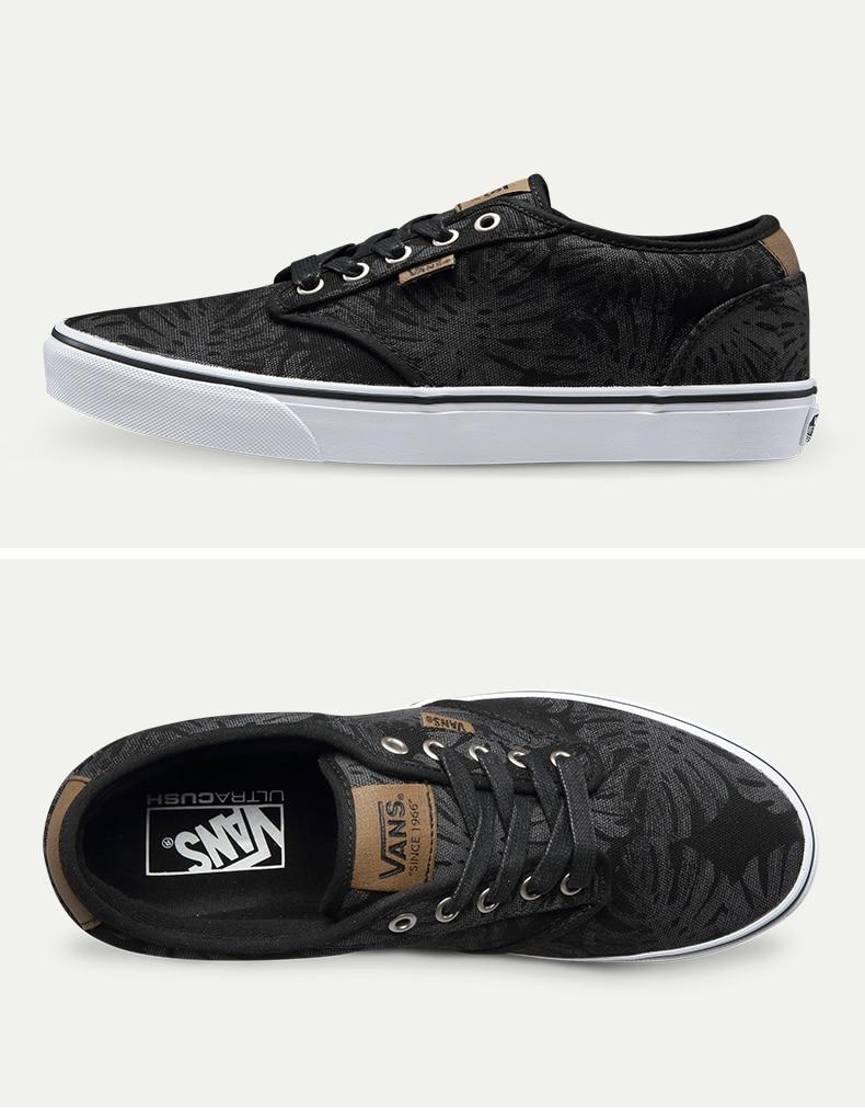 Original Vans Black and Blue Color Low-Top Men's Skateboarding Shoes Sport Shoes Sneakers