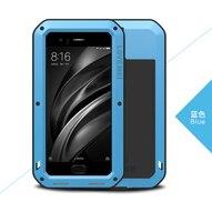 Original Love Mei Powerful Case For xiaomi mi6 m6 Waterproof Shockproof Aluminum Case Cover For xiaomi mi 6 free Tempered Glass