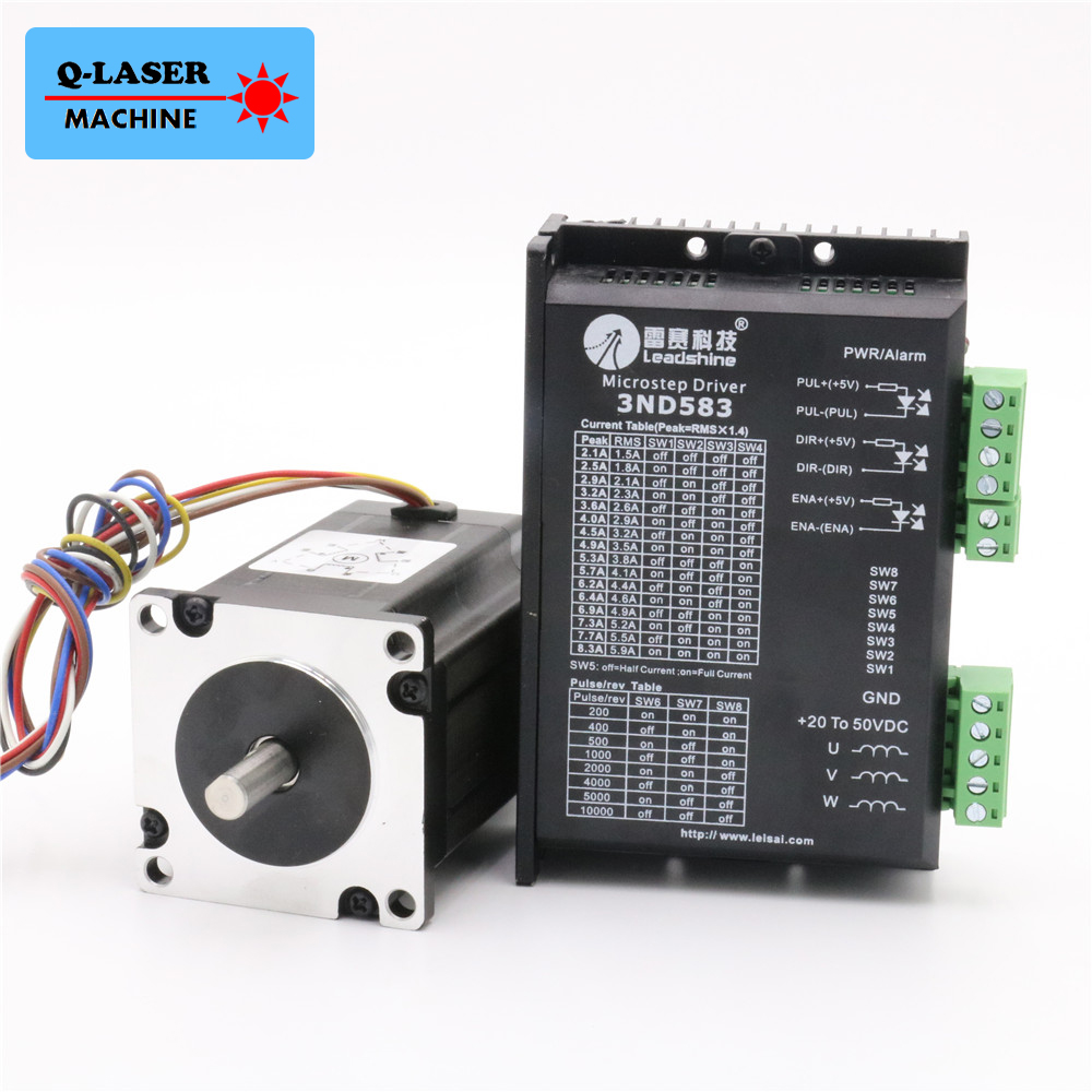 Leadshine 3 Phase Stepper Motor Driver 573S15 3ND583 NEMA 23 for Laser Engraving Cutting Machine Stepper Motor leadshine stepper motor driver 3dm 683 3 phase digital stepper drive max 60vac 8 3a