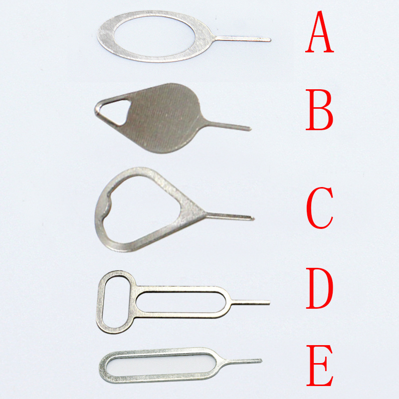 20Pcs/lot Metal Universal Sim Card Tray Pin Ejecting Removal Needle Opener Ejector For  Mobile Phone