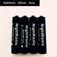 Alta Qualidade NightKonic 12 PÇS/LOTE 1.2 V AAA Bateria Recarregável NI-MH Bateria para Câmera Lanterna Brinquedo PRETO