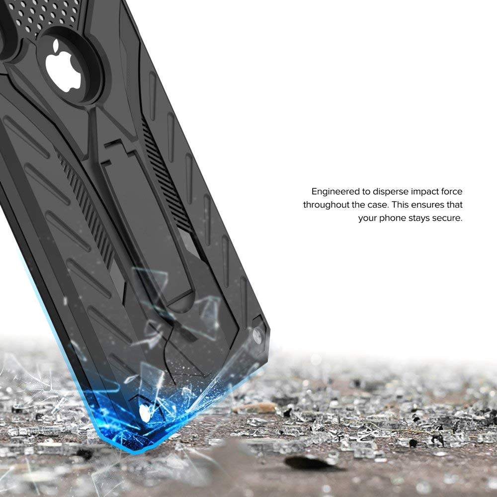 Image 2 - Shockproof Case For IPhone 6 6S 7 8 5 5S SE Plus Kickstand Military Grade Silicone Case For IPhone X XS XR Max Phone Case Cover-in Fitted Cases from Cellphones & Telecommunications