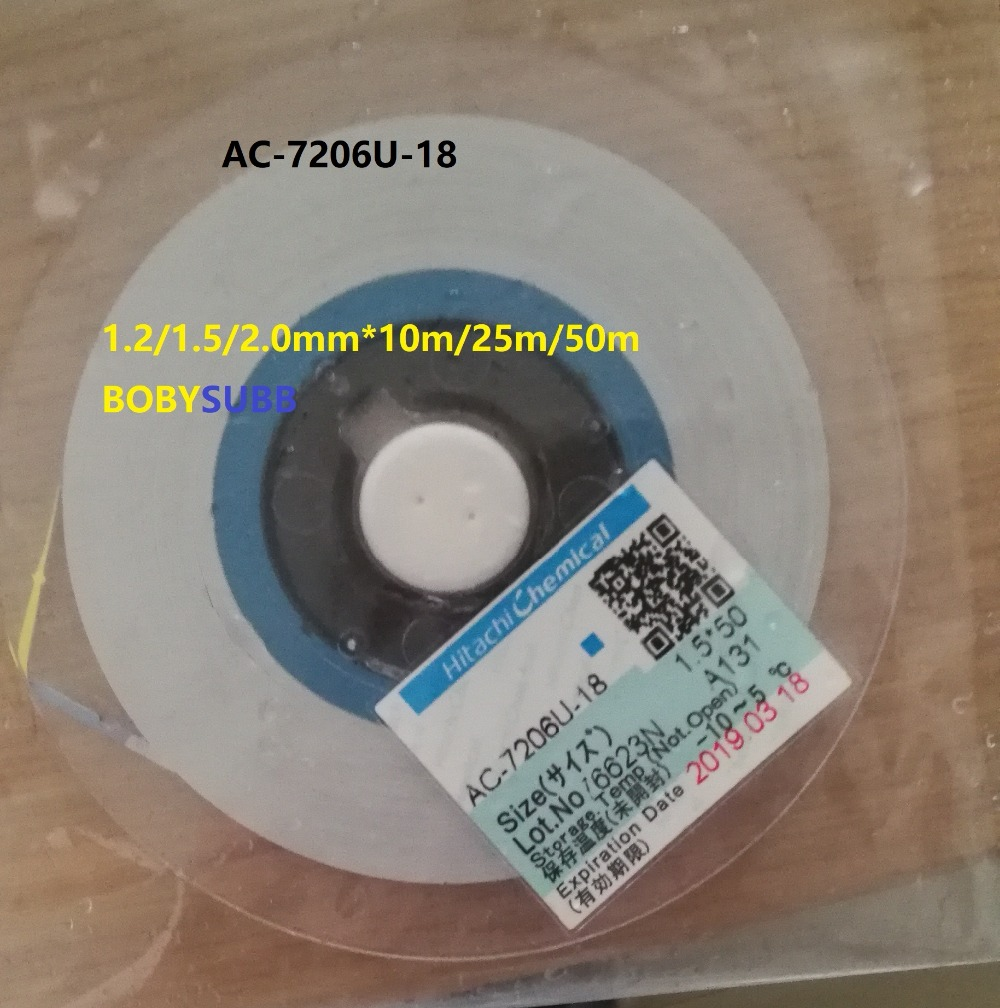 ACF AC-7206U-18 TAPE For LCD Screen Repair 1.2/1.5/2.0mm*10m/25m/50m original acf ac 11800y 16 1 0mmx100m tape